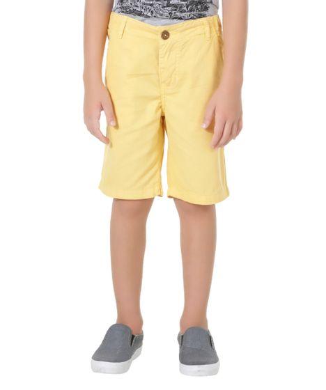 b1db24f00 Bermuda Color Infantil Reta em Algodão + Sustentável Amarela - cea