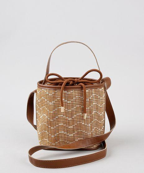 Bolsa-Bucket-Feminina-Transversal-Pequena-em-Palha-Caramelo-9393647-Caramelo_1