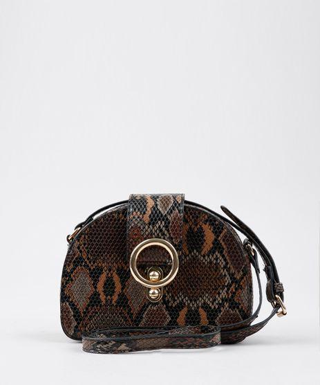 Bolsa-Feminina-Transversal-Pequena-Croco-Estampada-Animal-Print-com-Argola-Marrom-9485119-Marrom_1