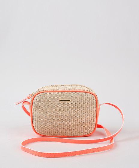 Bolsa-Feminina-Transversal-Pequena-em-Palha-com-Recorte-Laranja-Neon-9342674-Laranja_Neon_1