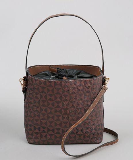 Bolsa-Bucket-Feminina-Media-Estampada-Geometrica-Marrom-9360380-Marrom_1