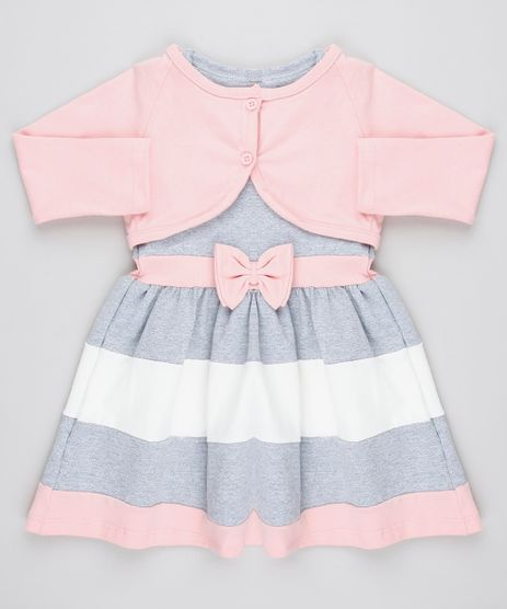 Vestido-Infantil-Sem-Manga-Cinza-Mescla---Bolero-Manga-Longa-Cinza-Mescla-9428806-Cinza_Mescla_1