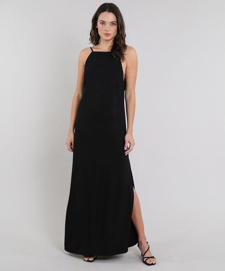 Vestido-Feminino-Mindset-Longo-Halter-Neck-com-Fenda-Preto-9661014-Preto_1