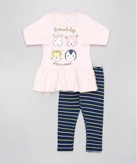 Conjunto-Infantil-de-Blusa-Animais-Manga-Longa-Rosa-Claro---Calca-Legging-Listrada-Azul-Marinho-9557598-Azul_Marinho_1