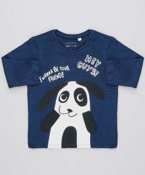 Camiseta-Infantil-com-Estampa-Interativa-Panda-Manga-Longa-Azul-Marinho-9530792-Azul_Marinho_1
