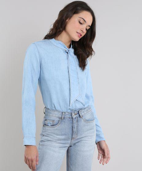 Camisa-Jeans-Feminina-Mindset-Manga-Longa-Gola-Laco-Azul-Claro-9613270-Azul_Claro_1