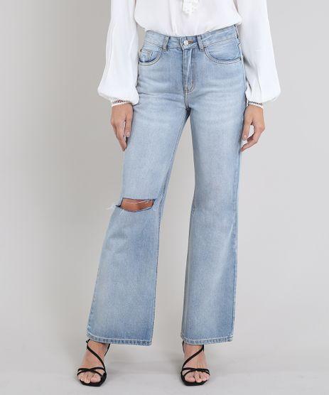 Calca-Jeans-Feminina-Mindset-Reta-com-Rasgo-Azul-Claro-9661013-Azul_Claro_1
