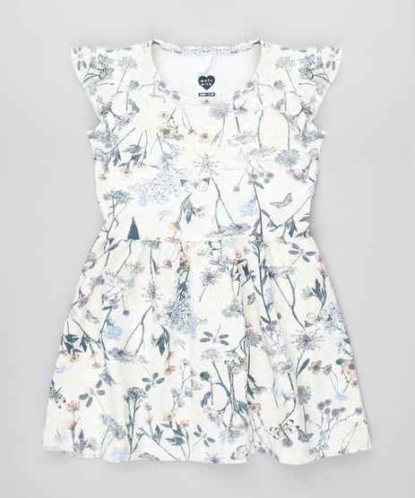Vestido-Infantil-Estampado-Floral-com-Babado-Sem-Manga-Off-White-9558994-Off_White_1