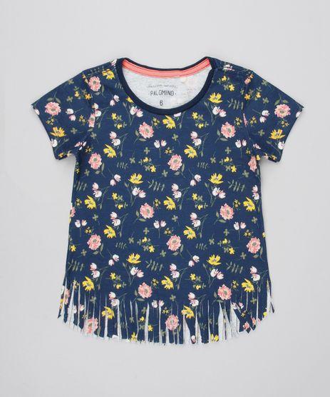 Blusa-Infantil-Estampada-Floral--Manga-Curta-Azul-Marinho-9592191-Azul_Marinho_1