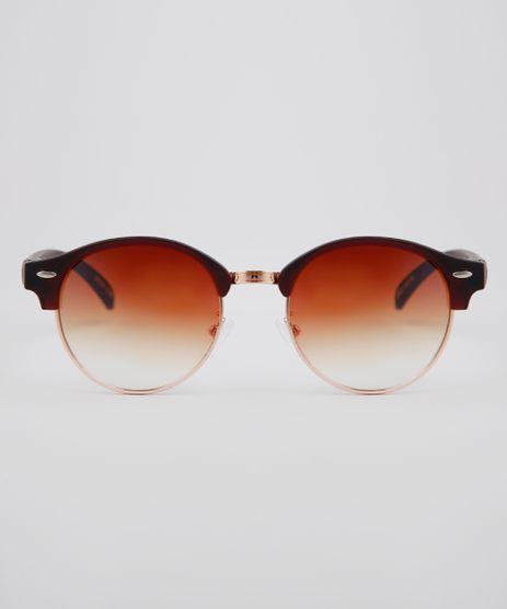 27fda6c84 Oculos-de-Sol-Redondo-Unissex-Oneself-Marrom-9636182-