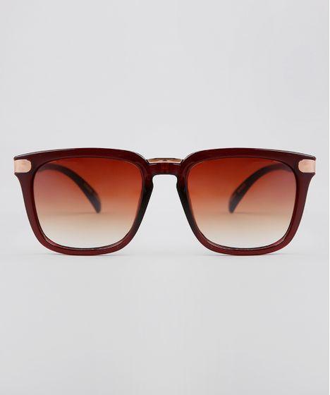 b1b9e1b43 Oculos-de-Sol-Quadrado-Feminino-Oneself-Marrom-9636203- ...