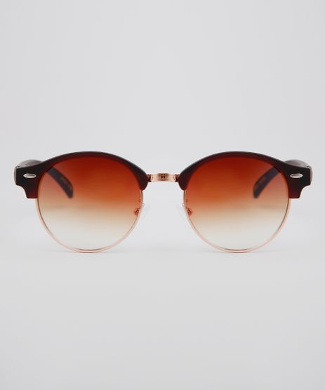 Oculos-de-Sol-Redondo-Unissex-Oneself-Marrom-9636182-Marrom_1