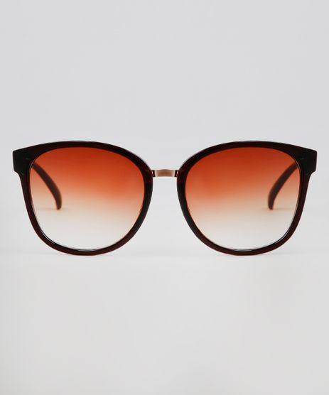 Oculos-de-Sol-Redondo-Feminino-Oneself-Marrom-9640452-Marrom_1