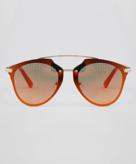 Oculos-de-Sol-Redondo-Feminino-Oneself-Dourado-9631563-Dourado_1
