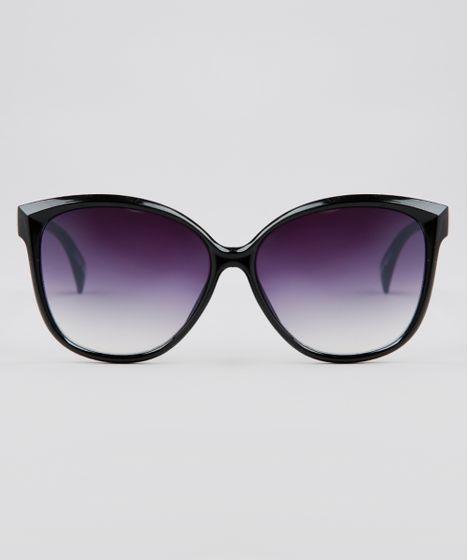 32586efa9 Oculos-de-Sol-Redondo-Feminino-Oneself-Preto-9636167- ...