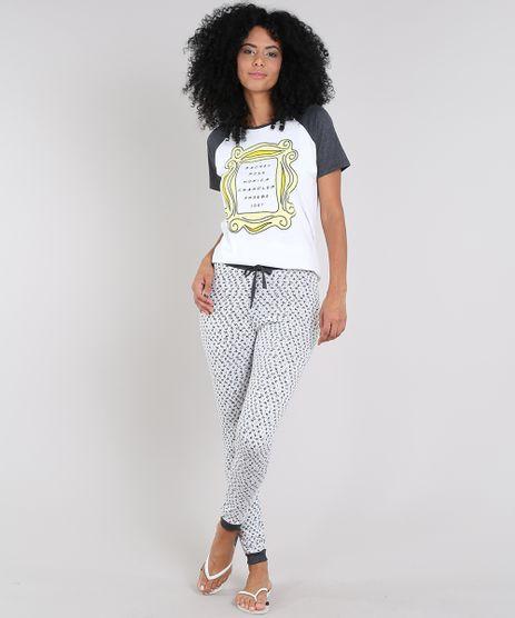 Pijama-Feminino-Friends-Raglan-Manga-Curta-Off-White-9547560-Off_White_1