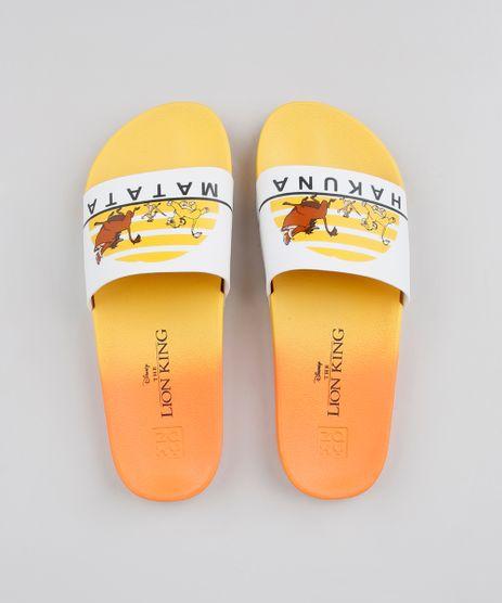 Chinelo-Slide-Feminino-Zaxy-O-Rei-Leao--Hakuna-Matata--Amarelo-9604346-Amarelo_1