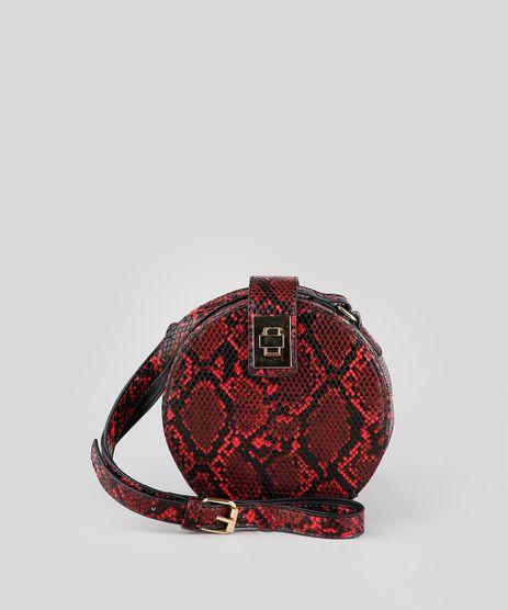 Bolsa-Feminina-Transversal-Pequena-Redonda-Croco-Estampada-Animal-Print-Vermelha-9485385-Vermelho_1