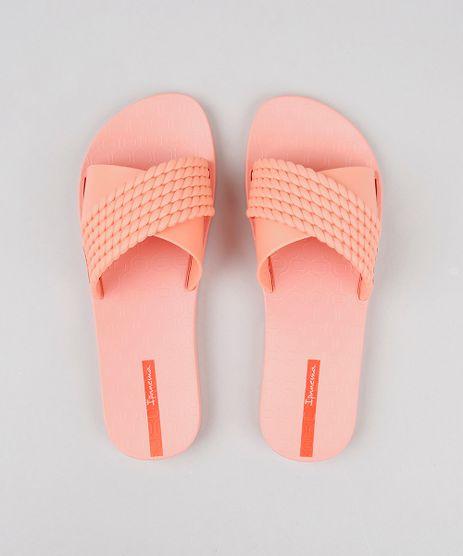 Chinelo-Slide-Feminino-Ipanema-Texturizado-Coral-9604345-Coral_1