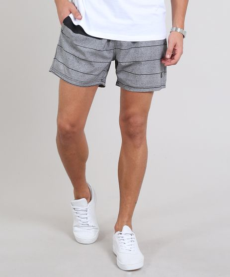 Short-Masculino-Listrado-com-Bolso-Preto-9525320-Preto_1