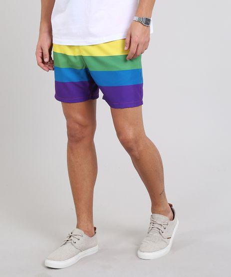 Short-Masculino-Pride-Estampado-Arco-Iris-com-Bolso-Multicor-9593011-Multicor_1