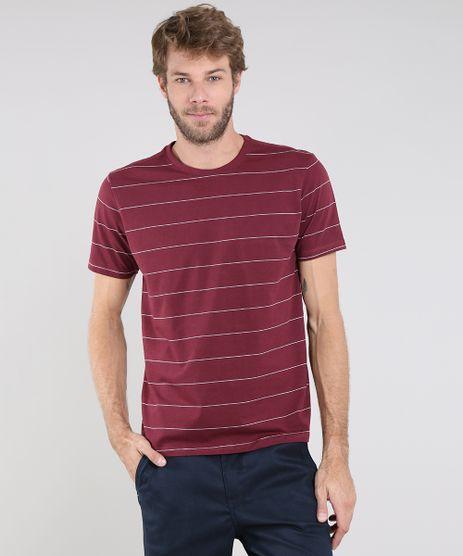 Camiseta-Masculina-Basica-Listrada-Manga-Curta-Gola-Careca-Vinho-9556141-Vinho_1