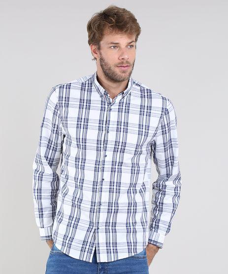 Camisa-Masculina-Comfort-Estampada-Xadrez-Manga-Longa-Off-White-9530842-Off_White_1