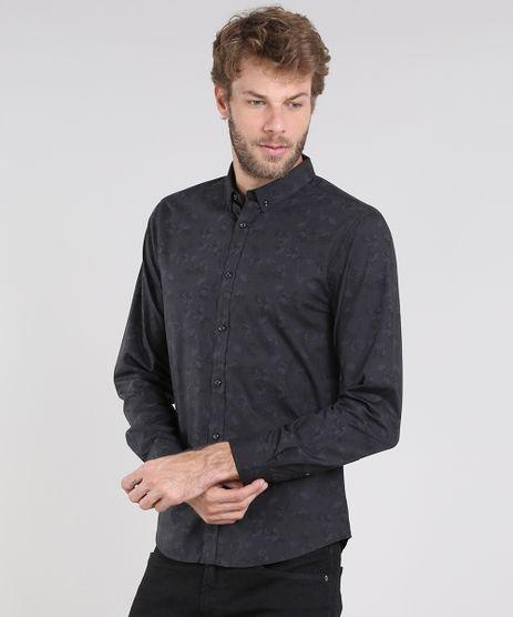 Camisa-Masculina-slim-Estampada-Floral-Manga-Longa-Preta-9429421-Preto_1