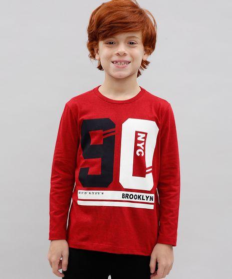Camiseta-Infantil--Brooklyn--Manga-Longa-Vermelha-9428953-Vermelho_1