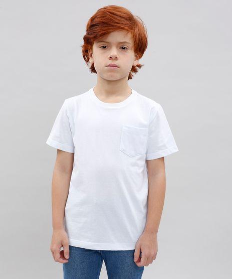 Camiseta-Infantil-Basica-com-Bolso-Manga-Curta-Gola-Careca-Branca-9567186-Branco_1
