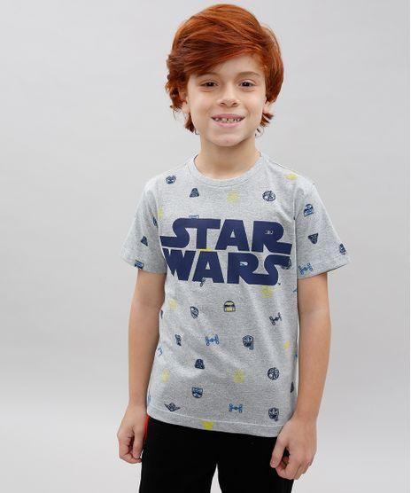 Camiseta-Infantil-Star-Wars-Estampada-Manga-Curta-Decote-Careca-Cinza-Mescla-9614218-Cinza_Mescla_1