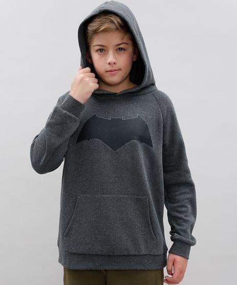 Blusao-Infantil-Batman-em-Moletom-com-Capuz-e-Bolso-Cinza-Mescla-Escuro-9385219-Cinza_Mescla_Escuro_1