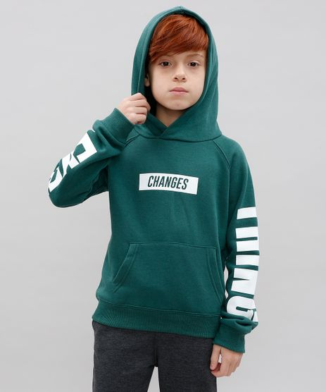 Blusao-Infantil--Changes--em-Moletom-com-Capuz-Verde-9364651-Verde_1