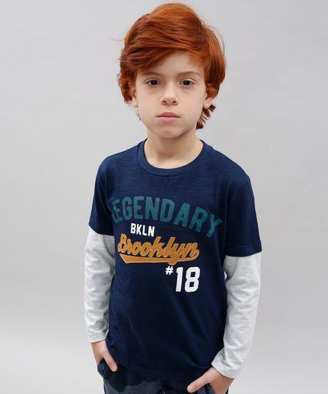 Camiseta-Infantil--Legendary-Brooklyn--Manga-Longa-Azul-Marinho-9542202-Azul_Marinho_1