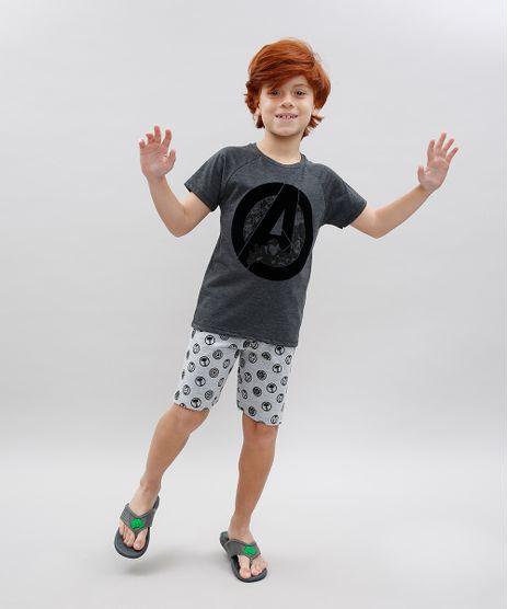 Pijama-Infantil-Os-Vingadores-Estampado-Manga-Curta-Cinza-Mescla-Escuro-9567833-Cinza_Mescla_Escuro_1
