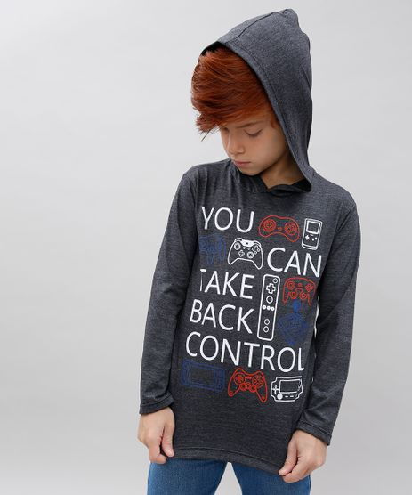Camiseta-Infantil--You-Can-Take-Back-Control--com-Capuz-Manga-Longa-Cinza-Mescla-Escuro-9534453-Cinza_Mescla_Escuro_1