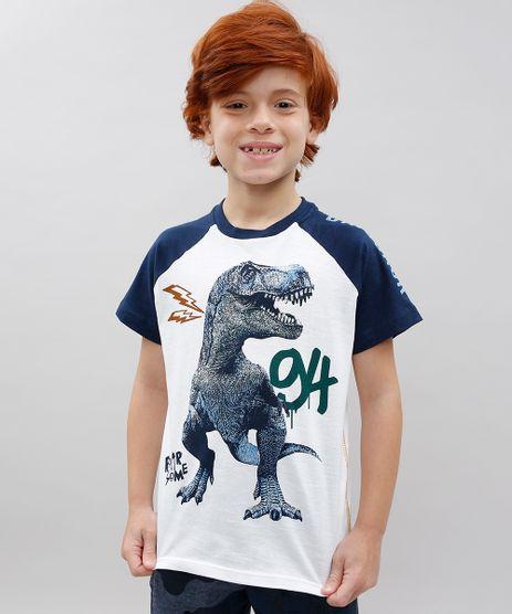 Camiseta-Infantil-Raglan-Dinossauro-Manga-Curta-Branca-9534638-Branco_1