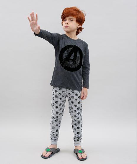 Pijama-Infantil-Os-Vingadores-Estampado-Manga-Longa-Cinza-Mescla-Escuro-9526415-Cinza_Mescla_Escuro_1