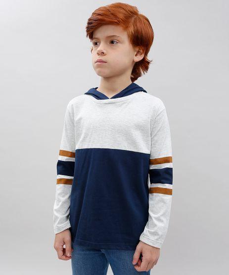 Camiseta-Infantil-com-Listras-e-Capuz-Manga-Longa-Cinza-Mescla-Claro-9565355-Cinza_Mescla_Claro_1