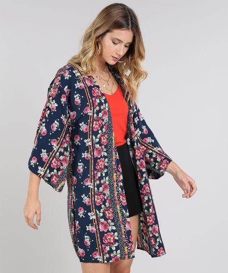 Kimono-Feminino-Estampado-Floral-com-Fendas-Azul-Marinho-9571368-Azul_Marinho_1
