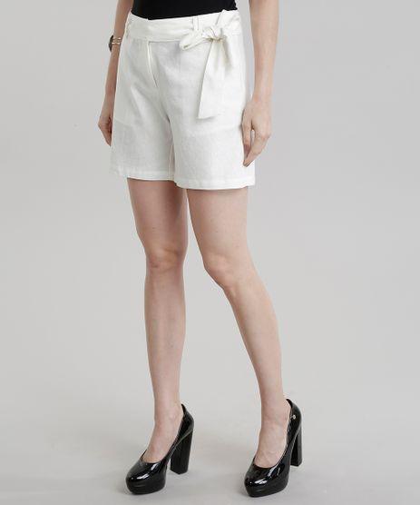 Short-Feminino-Clochard-em-Linho-e-Amarracao-Off-white-8715441-Off_White_1