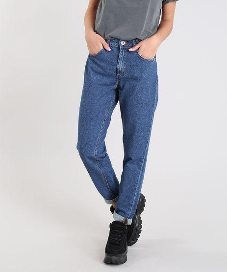 750917323 Calca-Jeans-Feminina-Mom-Pants-Azul-Escuro-9204361-