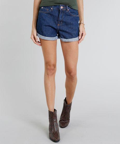 Short-Jeans-Feminino-Mom-Vintage-Barra-Dobrada-Azul-Medio-9274696-Azul_Medio_1