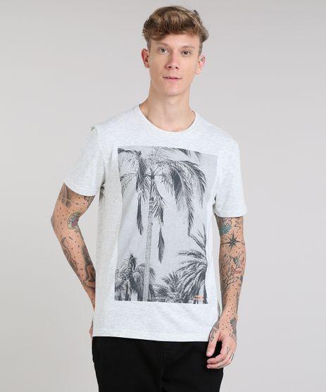 Camiseta-Masculina-com-Estampa-de-Coqueiros-Manga-Curta-Gola-Careca-Cinza-Mescla-Claro-9190306-Cinza_Mescla_Claro_1