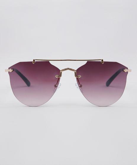 Oculos-de-Sol-Redondo-Feminino-Oneself-Dourado-9636137-Dourado_1