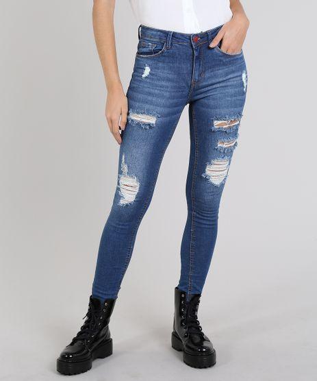 Calca-Jeans-Feminina-Skinny-Destroyed-Azul-Medio-9573579-Azul_Medio_1
