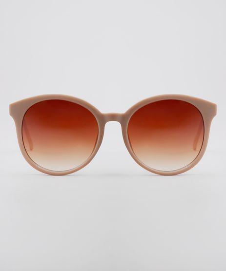 Oculos-de-Sol-Redondo-Feminino-Oneself-Bege-9636146-Bege_1