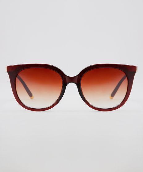 Oculos-de-Sol-Redondo-Feminino-Oneself-Marrom-9640258-Marrom_1
