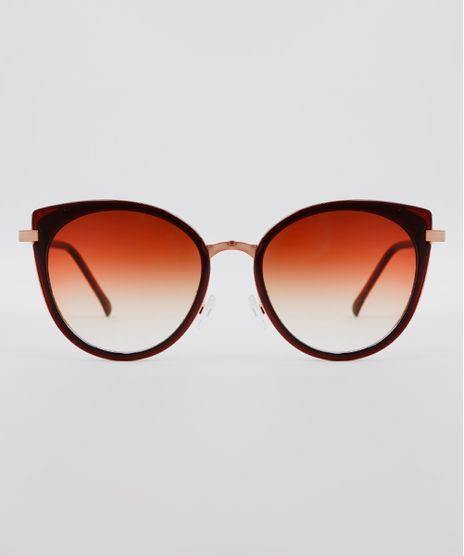 Oculos-de-Sol-Redondo-Feminino-Oneself-Marrom-9636143-Marrom_1