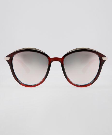 Oculos-de-Sol-Redondo-Feminino-Oneself-Marrom-9631572-Marrom_1